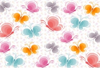 Wallpaper with hand-drawn floral backgrounds (36 wallpapers)
